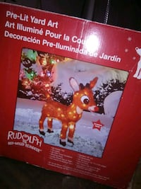 24-Inch Pre-Lit 3D Rudolph with Brigh Eastvale