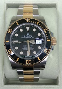ROLEX Submariner Black and Gold Two-Tone Mint Condition Costa Mesa, 92627