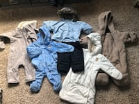Baby winter clothes size vary 3-24m $10 each