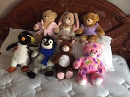 Build a Bear W Lot six animal plush toys