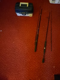 Plano tackle box and two fishing rods  St. Thomas, N5P 2Y2