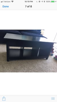 A beautiful black coffee table with LOTS of storage! It even opens out as a table for your convenience!! Bought this for $280 so please no low ball offers!!! Sterling Heights, 48310