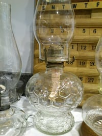 Oil Lamps with Globes  West Springfield