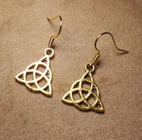 pair of gold tone earrings Victoria, V9A 1L1