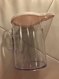clear glass pitcher with stainless steel lid Raleigh, 27613