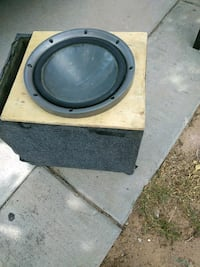 two black-and-brown subwoofers El Paso, 79905
