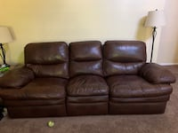 leather couch and reclining chair No holes or tears or rips