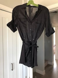 Aritzia community shirt/dress with tie