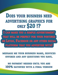 ADVERTISEMENT GRAPHICS for $20 Port Coquitlam
