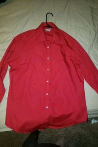 Mens Red dress shirt Large