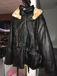 black leather fur jacket Hanover, 18017