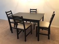 IKEA LERHAMN Table + Chairs RESTON