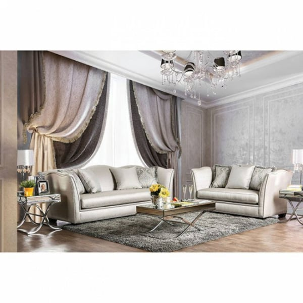 2PC SETS SOFA +LOVE SEAT Silver  - Brand New - Free Home Delivery SF bay area