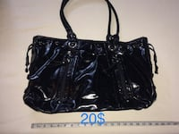 black leather 2-way bag Sainte-Anne-des-Plaines, J0N