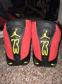 black-and-red Air Jordan basketball shoes Calgary, T3H 0R9