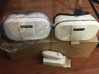 two white-and-black WE R-VR headsets Hamilton, L8P