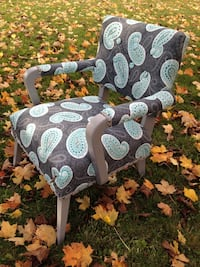 Beautiful Vintage Reupholstered Chair
