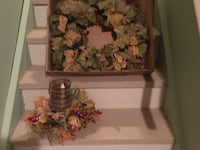 Wreath and candle Sherwood Park, T8A 3Y3