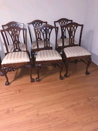 Set of 8 Chippendale Mahagony Real Wood Dining Chairs North York, M3K 2C1