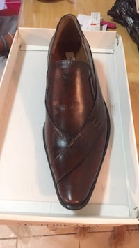 pair of brown leather slip on shoes Yonkers, 10705