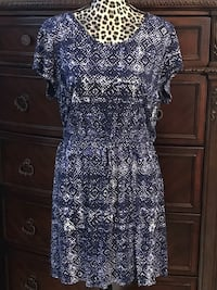 women's blue and white floral dress Fort Smith, 72903