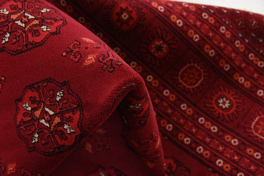 new Bokhara Afghan design rug Large size 9x13 red carpet Persian style bdd6bab5-6e22-4572-a695-24292a8aa1ec