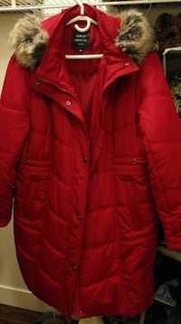 Red bubble jacket