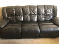 Black leather 3-seat sofa recliner Los Angeles, 90025
