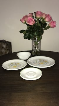 white and green floral ceramic dinnerware set Wilmington, 28403