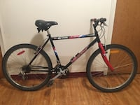 black and red hardtail bike 2466 km