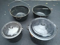 $3 for all four stainless steel cooking pots Toronto