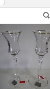 Two Mikasa crystal candle holders
