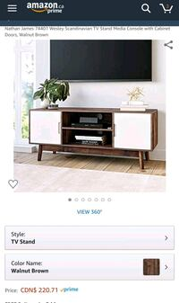 *new* Nathan James TV stand console with cabinets  Mississauga, L5M 3C5