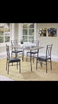 Dining set (5piece)-Rustic wood and metal Fairfax, 22030