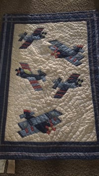Pottery barn airplane wall hanging/baby quilt Kansas City, 64151