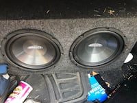 Black and gray subwoofer speaker and Sony Amp Lorton, 22079
