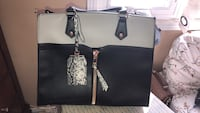 black and brown leather tote bag Mississauga, L5R 2N4
