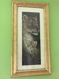 Poster in frame lioness and cub Ellicott City, 21042