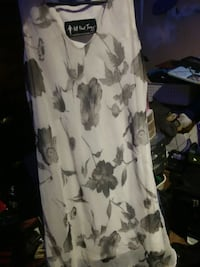 white and black floral scoop neck sleeveless dress Rossville, 30741