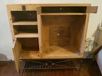 brown wooden TV hutch with cabinet Burlington, L7N