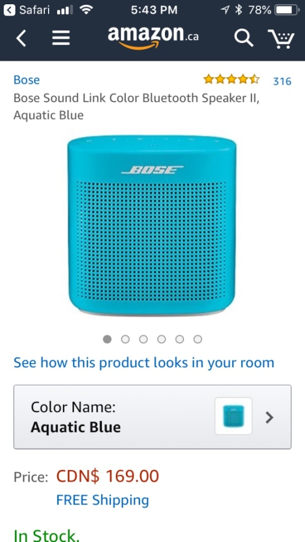 Bose sound link Bluetooth speaker