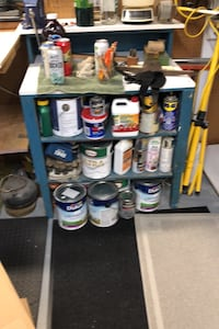 Paint storage work bench