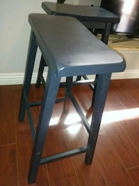 counter hight wood stools black color North Las Vegas, 89081
