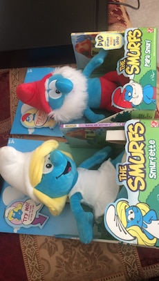The Smurfs Smufette and Papa Smurf plush toy