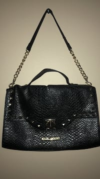 black leather 2-way bag Clearwater, 33760