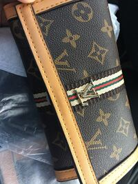 blue and brown Louis Vuitton leather wallet West Palm Beach, 33409