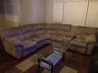 Tan Reclining Sectional  Alexandria, 22304