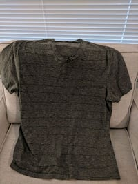 Men's grey & black striped t-shirt Pitt Meadows, V3Y 2J5