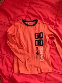 orange Good Game 74ème pull imprimé