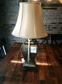 white and brown table lamp Laval, H7L 5L9